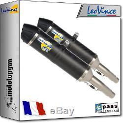 2 Exhaust Pot Leovince Lv-one Carbon Triumph Street Triple 675 R 2011 11