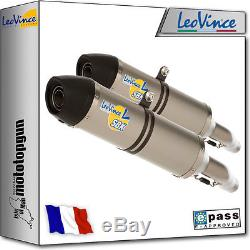 2 Exhaust Pot Leovince Lv-one Stainless Triumph Street Triple 675 R 2007 07