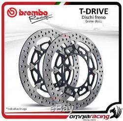 2 Front Brake Discs Brembo T Drive 310mm Triumph Street Triple 675 20072009