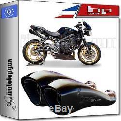 2 Hp-corsage Hydroform Silencer Black Hom Triumph Street-triple 2011 11 2012 12