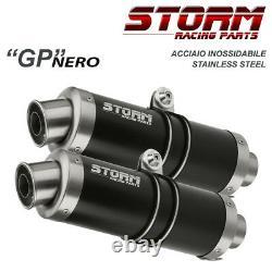 Escape Storm By MIVV 2 Gp Nero Steel For Triumph Street Triple 2007 2012