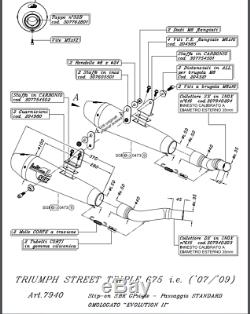 Exhaust Exhaust Pot Leovince Evo2 Inox Triumph Street Triple 675 08/11 7940