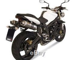 Exhaust Silencer MIVV Gp 2x Carbon Triumph Street Triple 07-12 D67ld