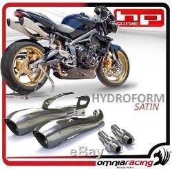 HP Corse Hydroform 2 Exhaust Muffler Steel Triumph Street Triple 2007 2012