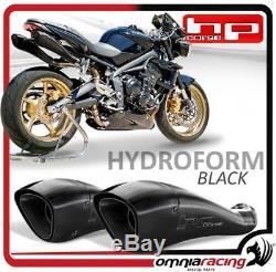HP Corse Hydroform Black 2 Exhaust Muffler Triumph Street Triple 2007 2012