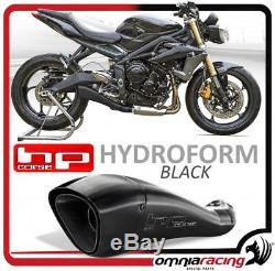 HP Corse Hydroform Black Muffler Triumph Street Triple 2013 2015
