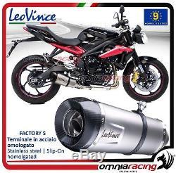 Leovince Factory S Exhaust Pipe Triumph Street Triple 675 / R 20132016