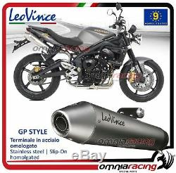 Leovince Gp Style 2 On Exhaust Triumph Street Triple 675 20072012 Pot