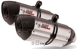 MIVV 2 Exhaust Pot Hom Suono Carbon Cap Triumph Street Triple 2011 11