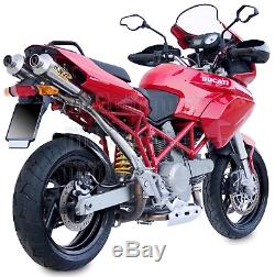 MIVV 2 Pot D Exhaust Hom Xcone Underseat Ducati Multistrada 1000 2006 06