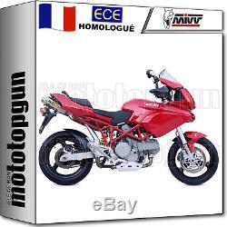 MIVV 2 Pot D Exhaust Hom Xcone Underseat Ducati Multistrada 1100 2008 08