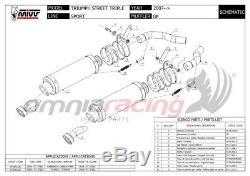 MIVV Gp 2 Exhaust Pipe Approves Titanium Triumph Street Triple 2012 12
