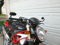 Motorcycle Guidon Tip Mirror For Triumph Vitesse Street Triple Pair Models