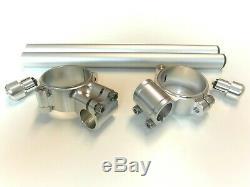 Mounting Flanges Handlebar Bracelet Kit Triumph Daytona 675 Street Triple Silver