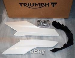 New Crystal White Triumph Street Triple 675 / R 2013/2016 Engine Block