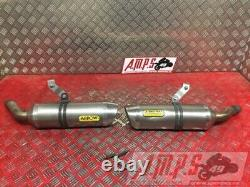 Pair Of Arrow Exhaust Silencers Triumph Street Triple 675 R 2011 To 2012