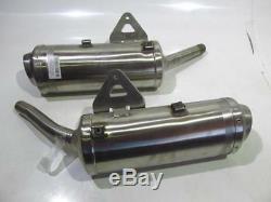 Pair Sliding Pot Exhaust Triumph Street Triple 675 11-12