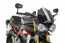 Puig Naked Sport Bubble Compatible For Triumph Street Triple 675 2020 Dark Smoke