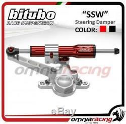 Red Linear Steering Damper Bitubo Triumph Street Triple 675 0811