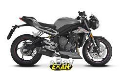 Silencer Exan X-black Oval Black Triumph Street Triple 765 2017 Xt12-l00-xon