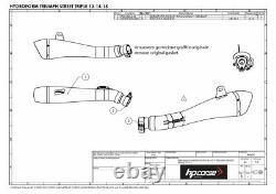 Silent HP Corse Evoxtreme 310 Satin Triumph Street Triple 675 2013 / 2017