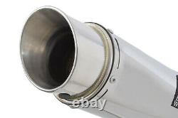 Street Triple 675 675r 2013-2016 Round Gp Exhaust Silencer Stainless 230sr