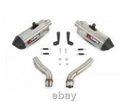 Triumph 675 Street Triple-08/12 Silencer Pair Escapement Red Power Stainless