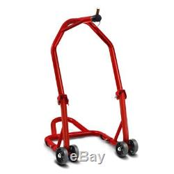 Triumph Street Triple 07-16 Classic Front Motorcycle Stand Stand Red