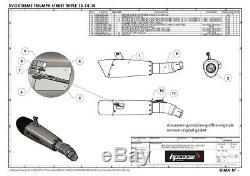 Triumph Street Triple 2013 2014 Pot Exhaust HP Corse Evoxtreme Low Approved