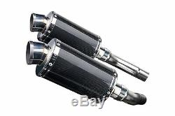Triumph Street Triple 675 2007-2012 Exhaust Oval Carbon Pot 225mm Track