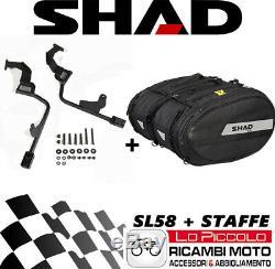 Triumph Street Triple 675 2013 Bags Side Soft Shad Sl58 + Hooks