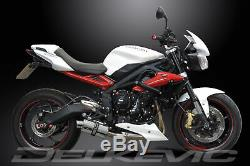 Triumph Street Triple 675r 2013-2016 Pot 225mm Exhaust Oval Stainless Track