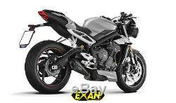 Triumph Street Triple 765 2017-2018 Exan Silent Conic X-black Carbon / Titanium