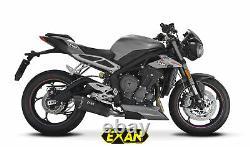 Triumph Street Triple 765 2017-2018 Exan Silent Oval X-black Titane/carbone
