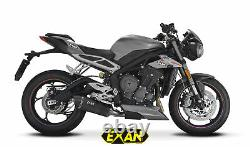 Triumph Street Triple 765 2017-2018 Exan Silent Oval X-black Titanium/carbon