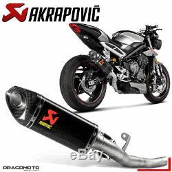 Triumph Street Triple 765 S R Rs 2017 2018 Pot Exhaust Akrapovic Carbon Rc