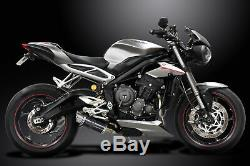 Triumph Street Triple 765rs 2017-19 Exhaust Full 200mm Round Carbon Track