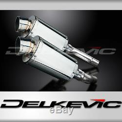 Triumph Street Triple R 225 2009-2012 Exhaust Muffler Oval Stainless Track
