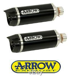 2 Silencieux Arrow Thunder Alu Dark Triumph Street Triple 2007/2012