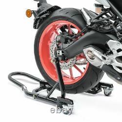 Bequille d'atelier moto arriere MV Triumph Street Triple R aide au rangement