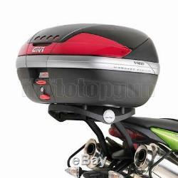 Givi Top Case Maxia 4 V56nnt + Porte-paquet Triumph Street Triple 675 2007 07