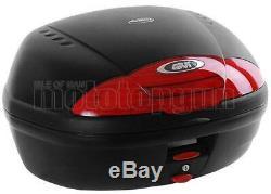 Givi Top Case Simply II E450n + Porte-paquet Triumph Street Triple 675 2012 12