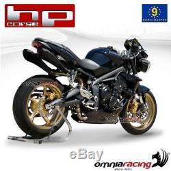 Hp Corse HYDROFORM AB Pot D'Echappement approuve TRIUMPH STREET TRIPLE 2012