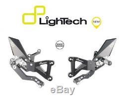 Lightech Marchepieds Arriéré Réglable Articulé Triumph Street Triple 765 Rs