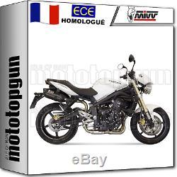MIVV 2 Pot D Echappement Hom Suono Noir Carbon Cap Triumph Street Triple 2012 12
