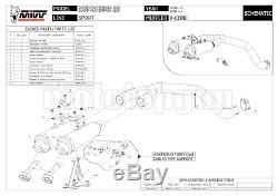 MIVV 2 Pot D Echappement Hom Xcone Underseat Ducati Multistrada 1100 2008 08
