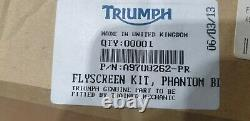 Original TRIUMPH Pare-Brise Flyscreen Speed Triple Street Triple 1050 675 Noir
