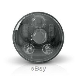 Phare LED 5,75 pour Triumph Street Triple 07-12 noir