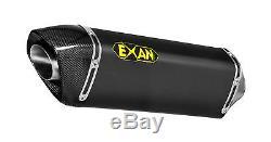 Silencieux Exan X-black Ovale Inox Noir Triumph Street Triple 2007/12 T832ov-in