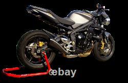 Silencieux HP Corse Hydroform Black Triumph Street Triple 675 2007 / 2012